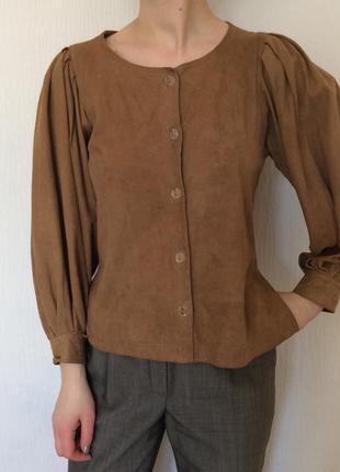 100% кожа кофта блуза