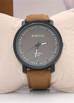 """Cтильные масивные часы """"генезис"""" крричневогог цвета"""
