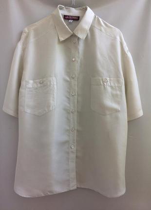 Шелковая рубашка, 100% шелк р. 44