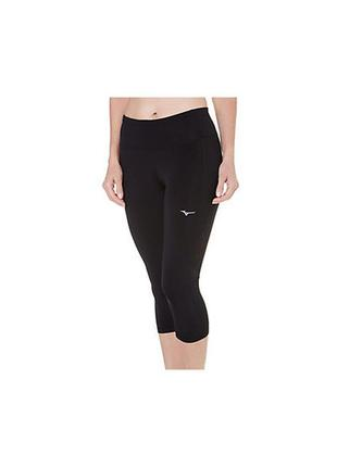 Фирменные тайтсы-капри от mizuno breath thermo midweight thermal performance tights