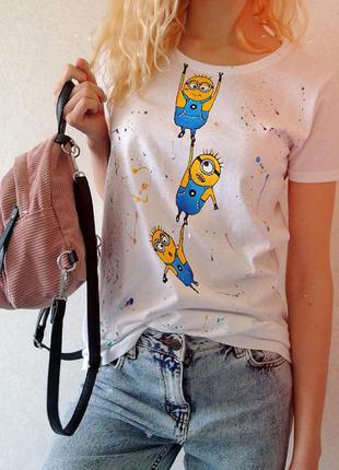 Handmade 🎨 весела футболочка (  міньйони :)  всі розміра .