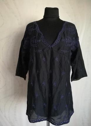 Обалденная блуза вышиванка с вышивкой прошвой