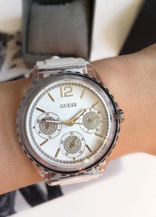 Классные, летние часы guess с силиконовым ремешком! оригинал!