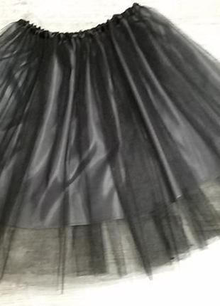 Пышная юбка-шопенка из фатина