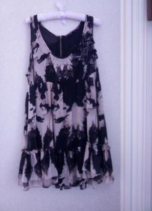 Платье с воланом летнее