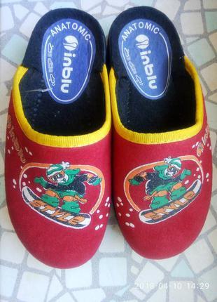 Тапки детские, тапочки, домашняя обувь. inblu. на ножку18 см.