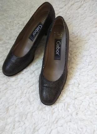 Кожаные туфли лодочки gabor