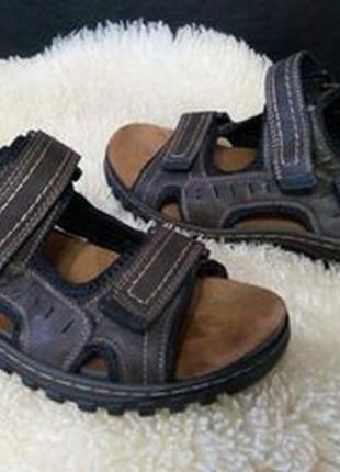 Hobos босоножки 42 р по ст 27 см взуті один раз кожзам