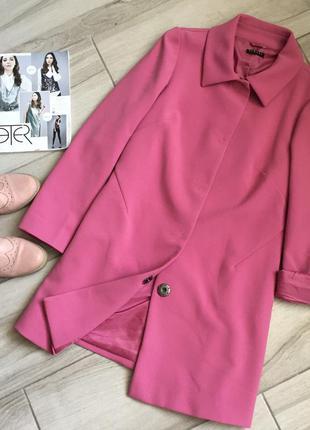 Розовое пальто sisley