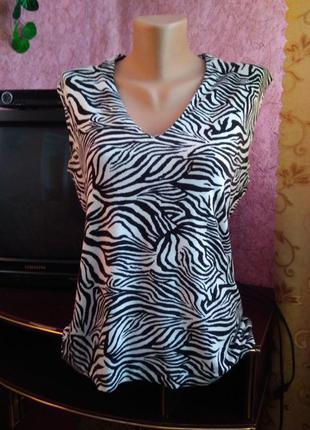Майка футболка зебра
