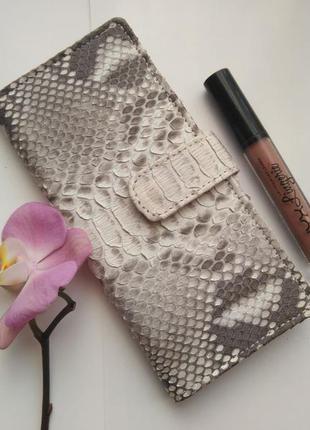 Женский кошелек из натуральной кожи питона