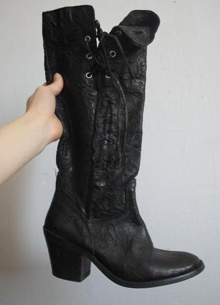Кожаные  сапоги - ковбои / шкіряні чоботи