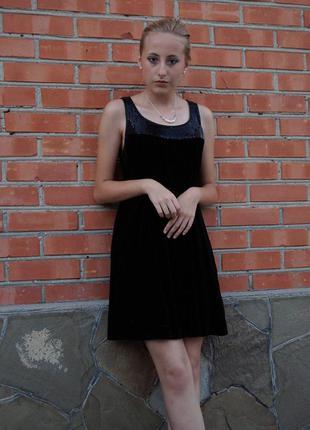 Шикарное велюровое вечернее платье