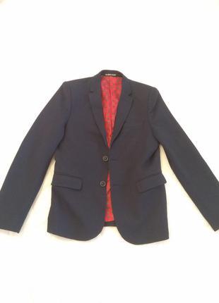 Мужской трендовый элегантный пиджак palamiro rrossi синий