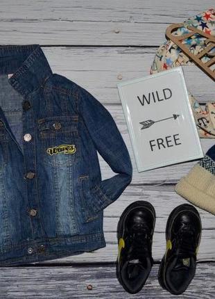 1 - 2 года 92 см фирменная очень красивая легкая джинсовка  джинсовый пиджак