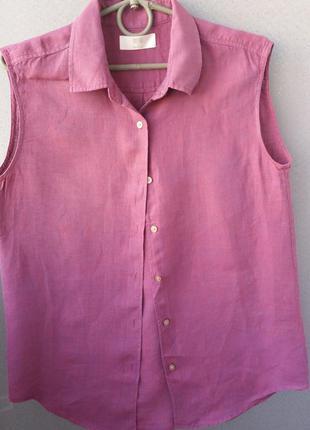 Блузочка-рубашка-лен!