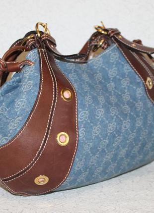 Оригинальная сумка blumarine кожа+деним