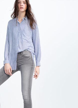 Zara рубашка в полоску