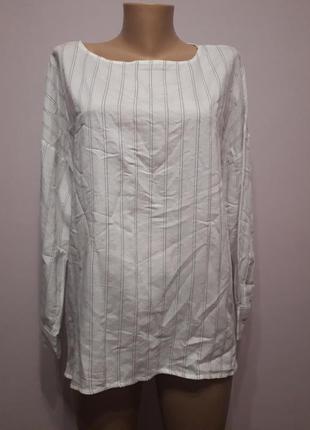 Рубашка белая полосатая mango