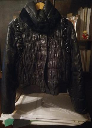 Куртка oodji с мехом кролика