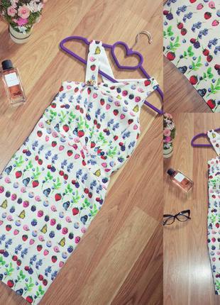 Яркое летнее шелковое платье / сарафан от донателлы версаче / versace