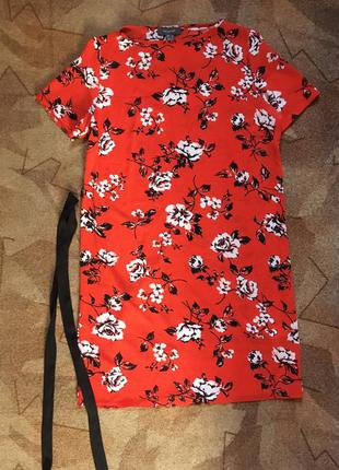 Ярко красное платье от  primark