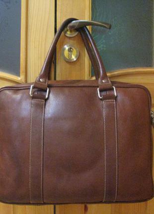 Сумка чемодан marks & spencer кожа