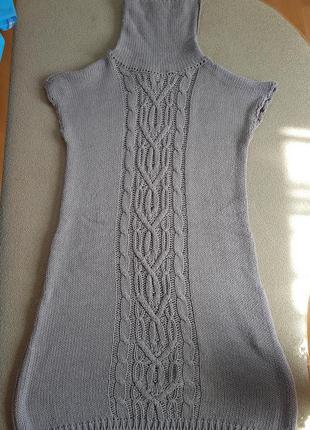Вязаное платье s