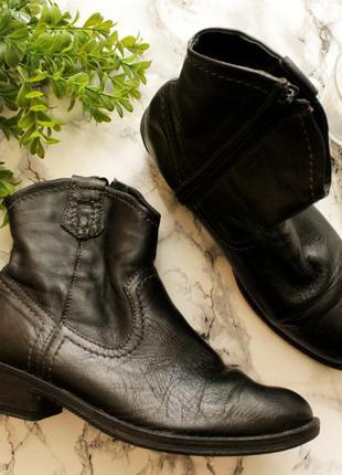 Кожаные полусапожки, ботинки marco tozzi скидка!!