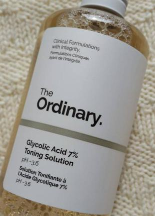 Гликолевый тоник the ordinary glycolic acid 7% toning solution 240мл