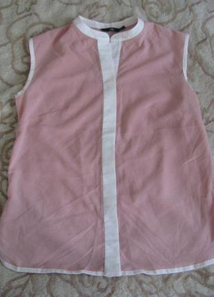 Легкая невесомая блуза нежно розового цвета