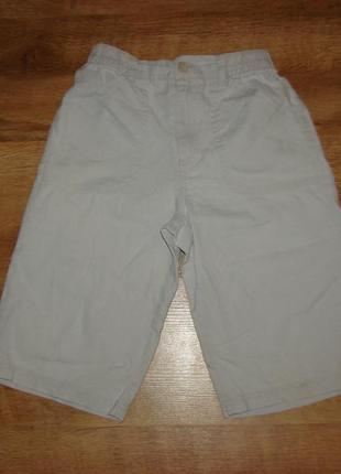 Льняные шорты на 8 лет рост 122-128 см 55% лен +45% котон