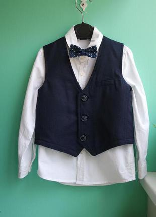 Комплект тройка - рубашка. жилет, бабочка lc waikiki