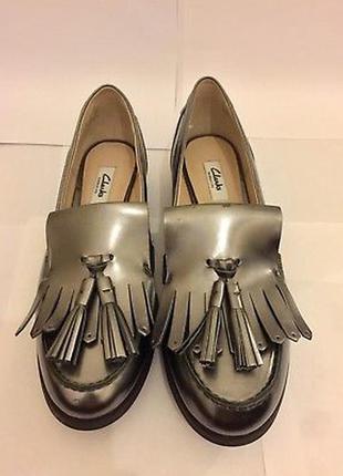 Clarks!оригинал!классные кожаные туфли,р 37,37,5,38,5,39,41