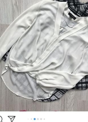 Шифоновая блуза блузка на запах