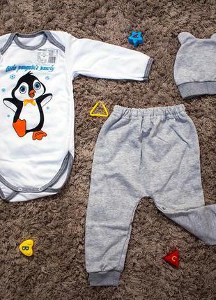 """Комплект для новорожденного """"пингвин"""""""