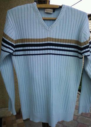 Идеальный нарядный коттоновый свитер .46-48