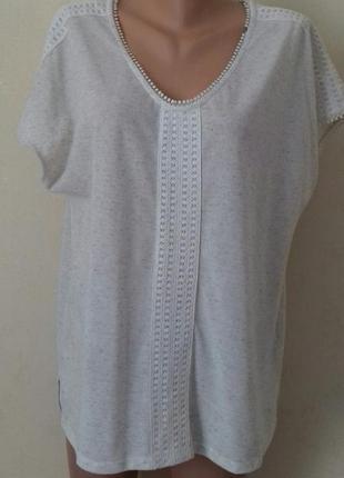 Новая трикотажная блуза большого размера