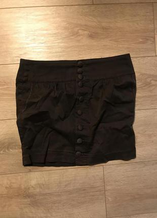 Коричневая юбка stradivarius