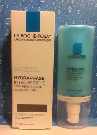 Интенсивный увлажняющий крем  для сухой кожи la roche-posay hydraphaseintense riche