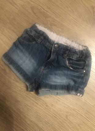 Шортики на девочку джинсовые 92