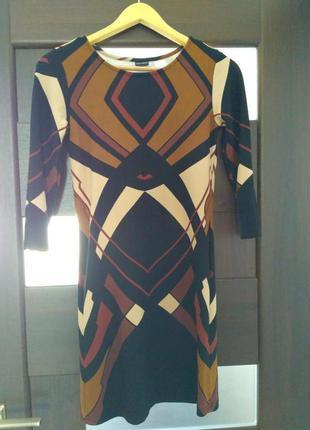 Платье модного принта, стильное и качественное