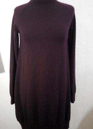 Платье свитер из мериносовой шерсти xs/s