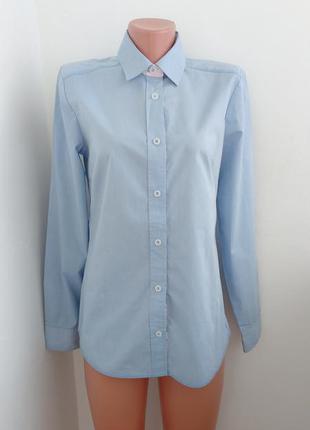Хлопковая голубенькая фирменная рубашечка ! р наш 44-46 вьетнам