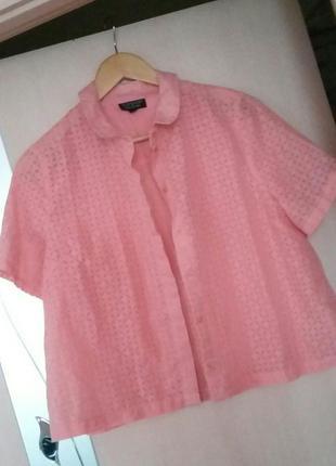 Легкая кроп-топ блуза topshop