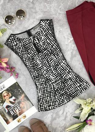 Элегантная блуза с монохромным принтом  bl18165  oasis