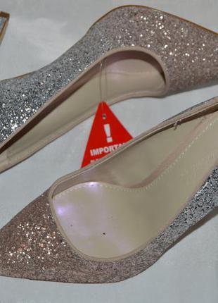 Туфли лодочки so fabulous размер 39 40, туфлі