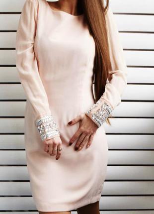 Новое нежно розовое платье