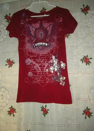 """Супер футболка""""guess""""р.s,100%коттон,гватемала-135грн.1 фото"""