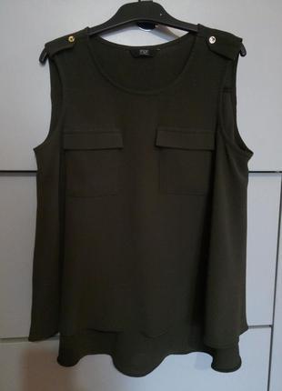 Стильная блузка майка f&f, размер 8